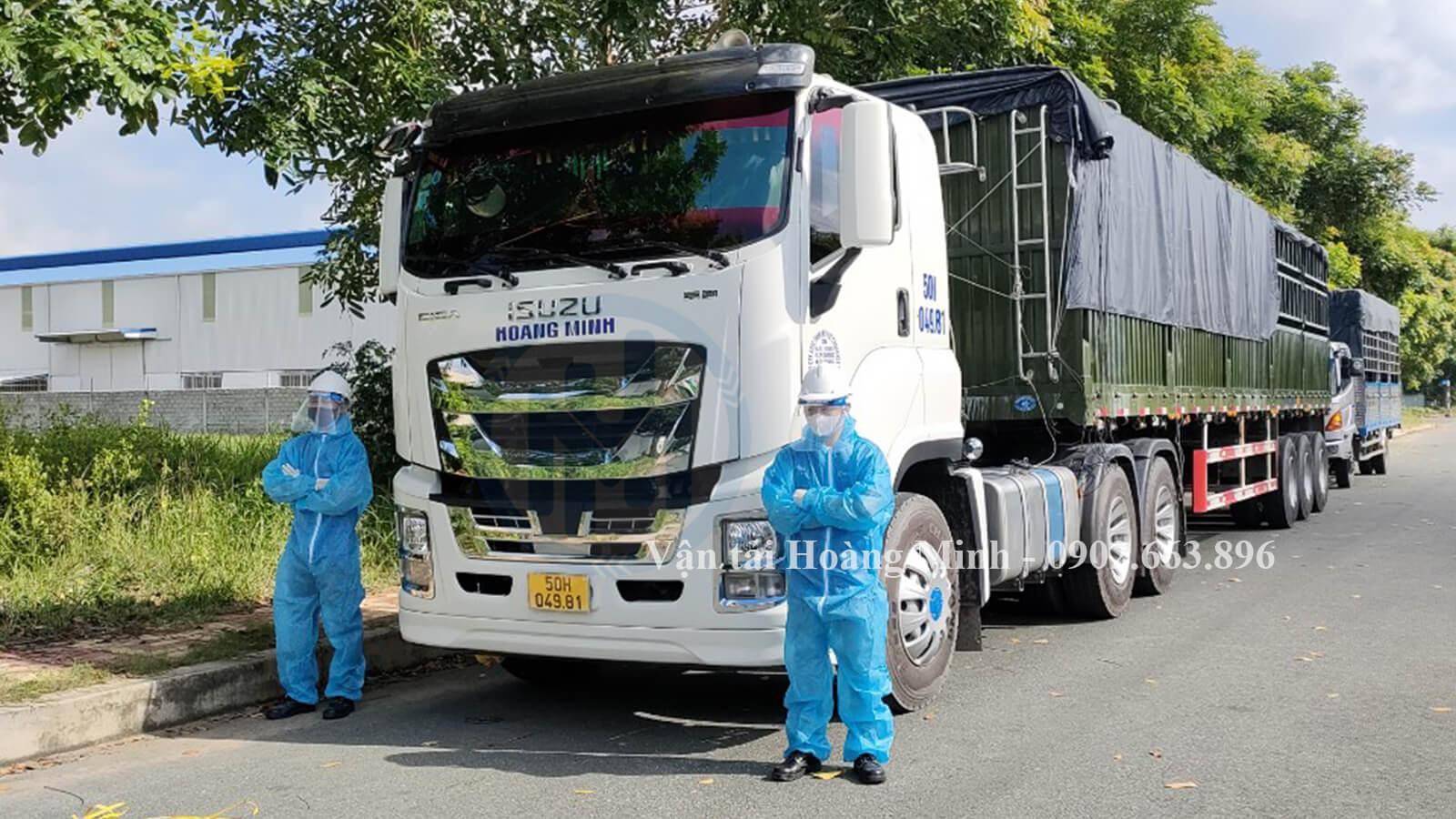 dịch vụ cho thuê xe tải chở hàng của vận tải hoàng minh
