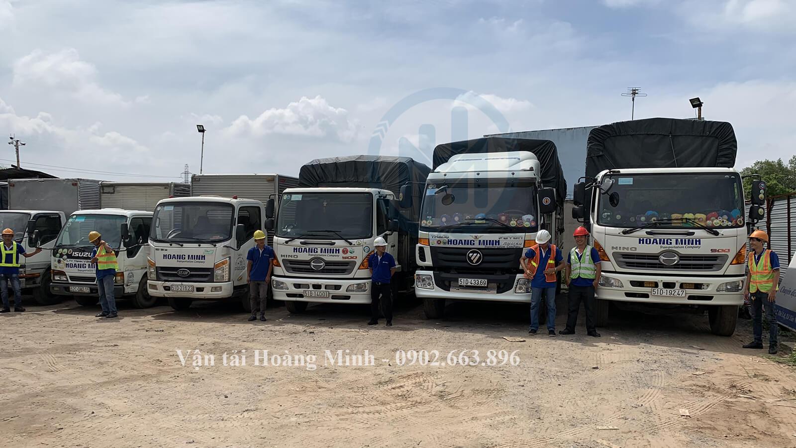 Dịch vụ cho thuê xe tải chở hàng Quận 6 của Vận tải Hoàng Minh