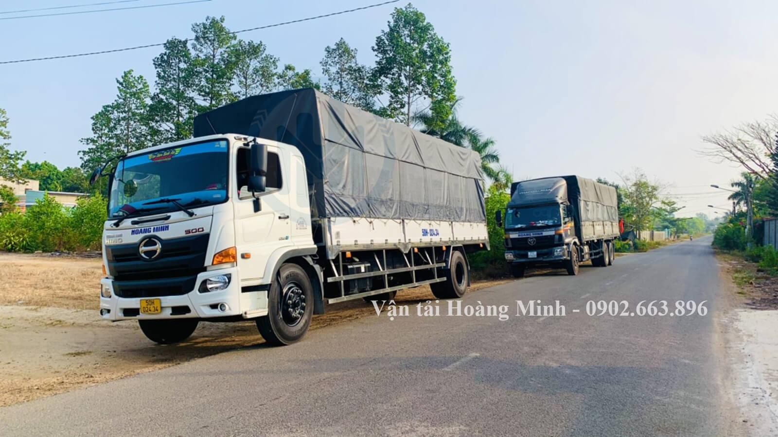 Vận tải Hoàng Minh cho thuê xe tải chở hàng đi những tỉnh nào