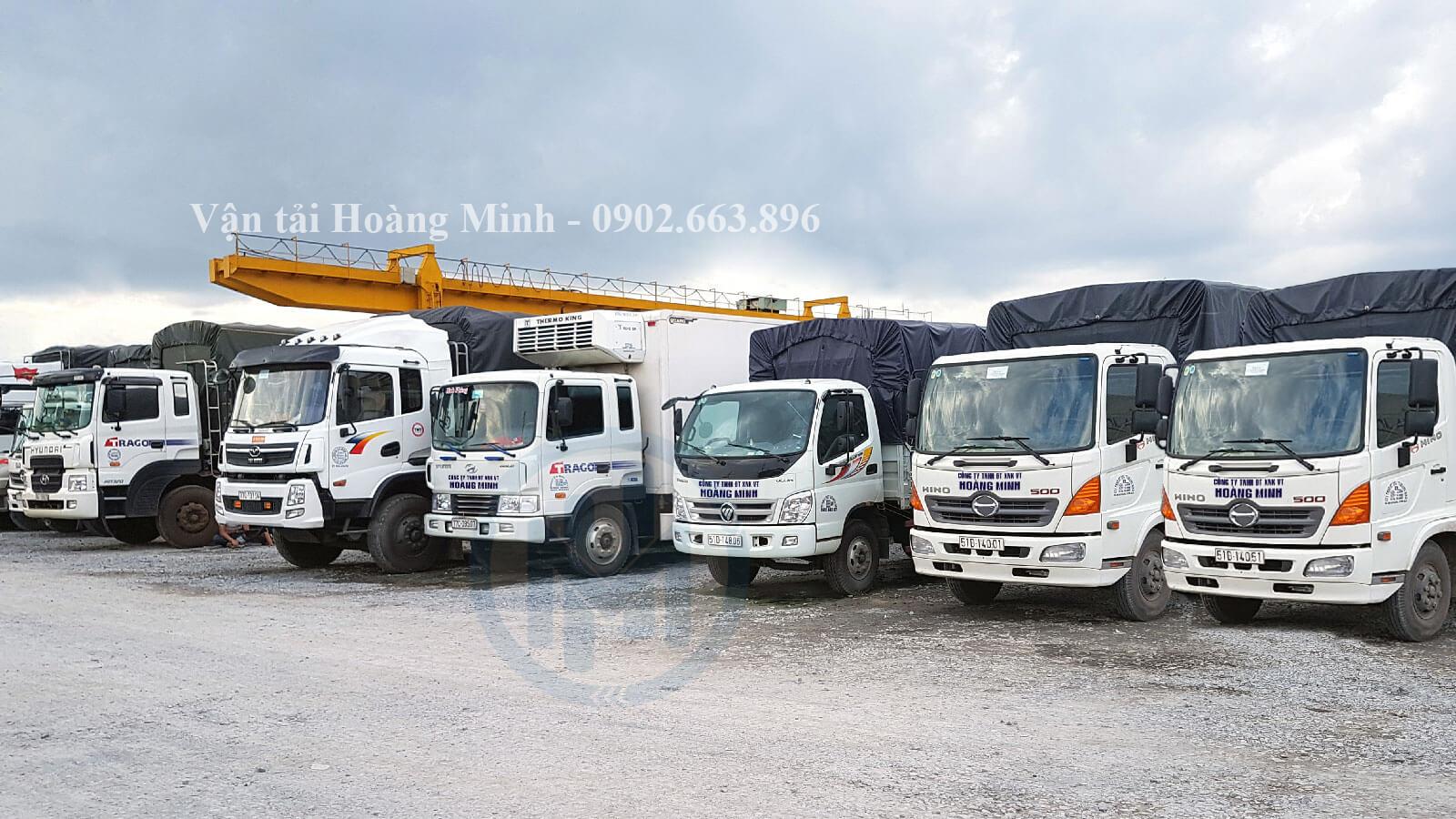 Vận tải Hoàng Minh cung cấp những loại xe tải vận chuyển nào