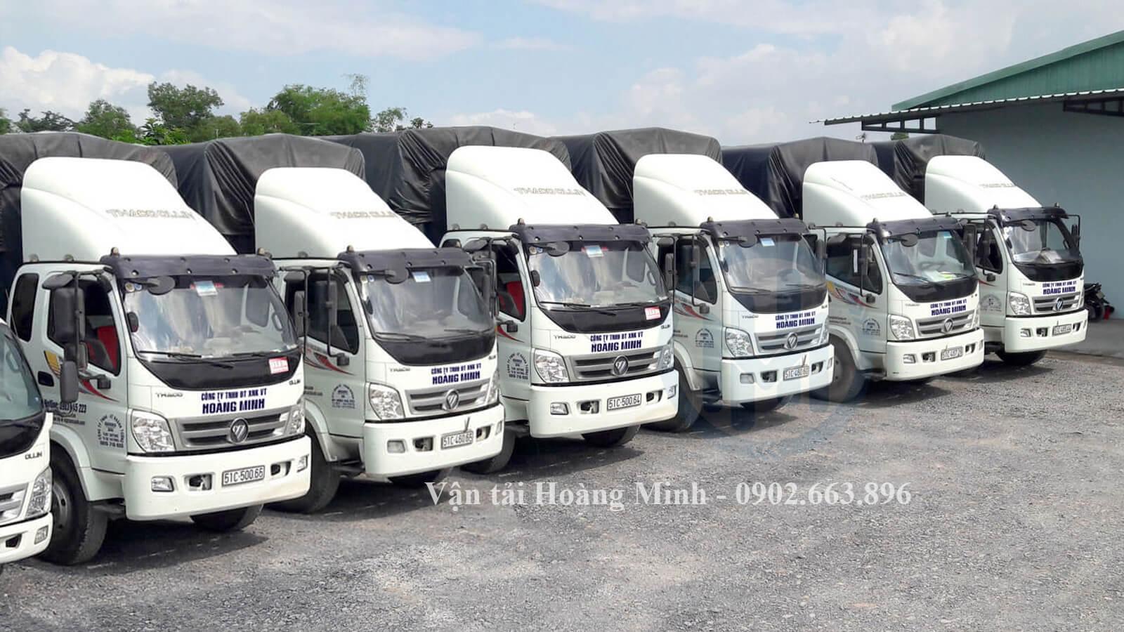 Vận tải Hoàng Minh cung cấp xe tải chở hàng với kích thước như thế nào