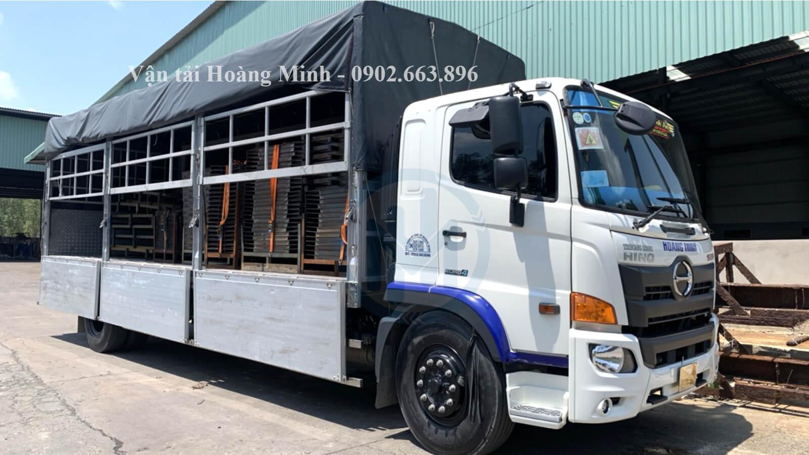 Kích thước thùng xe các loại xe tải chở hàng Quận 12 của Vận tải Hoàng Minh