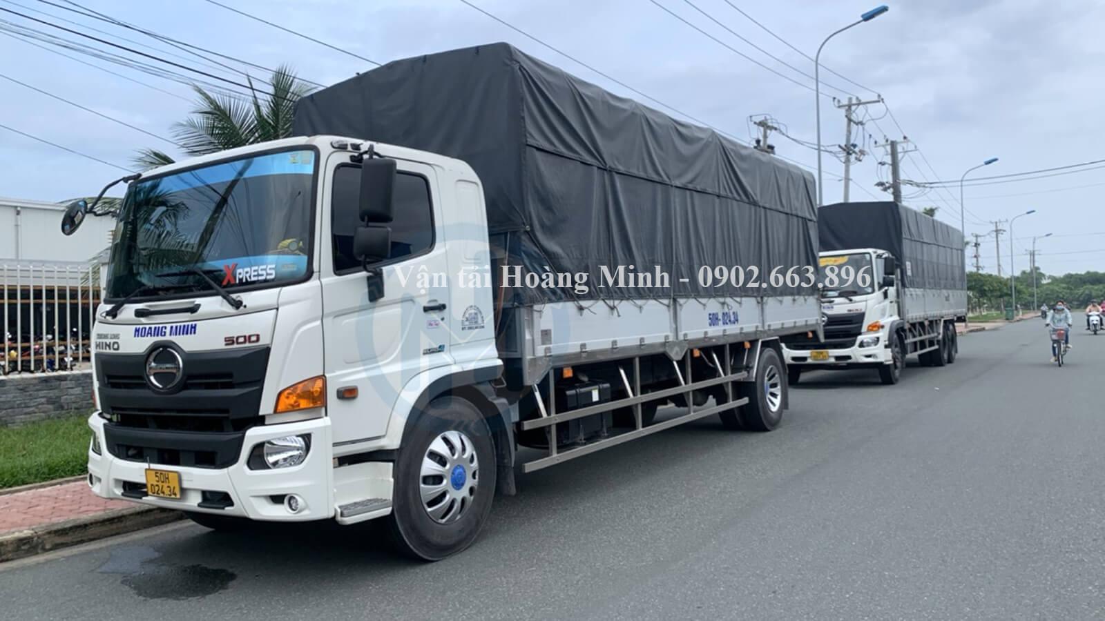 Vận tải Hoàng Minh cho thuê các loại xe tải vận chuyển nào