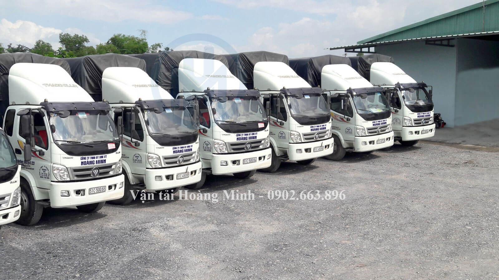Vận tải Hoàng Minh cung cấp các loại xe tải vận chuyển nào