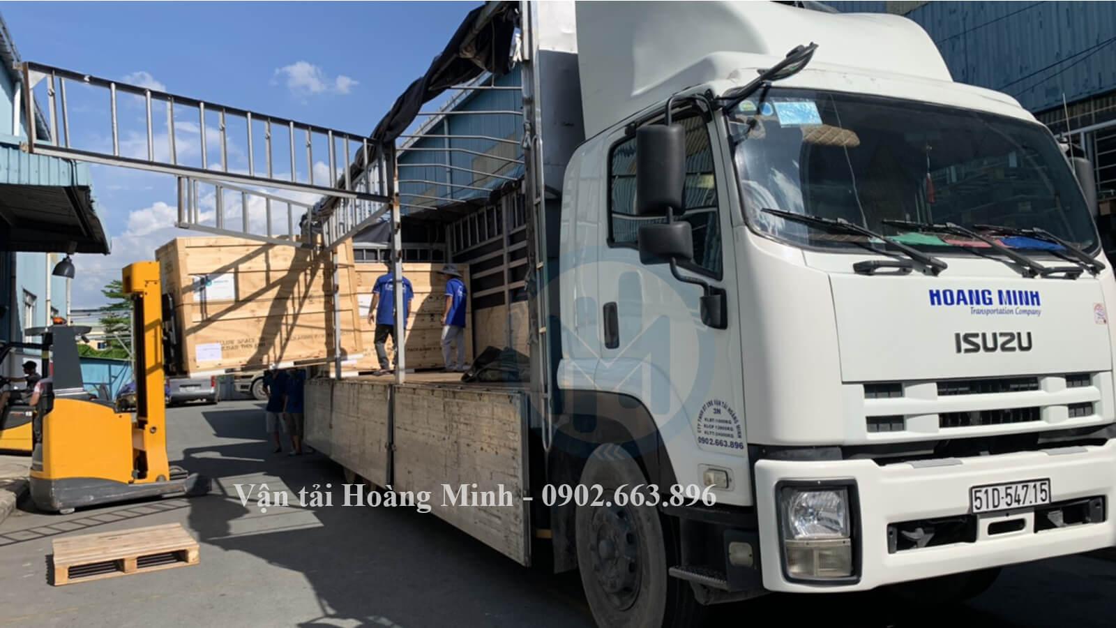 Vận tải Hoàng Minh cung cấp xe tải chở hàng Quận Bình Tân có kích thước như thế nào