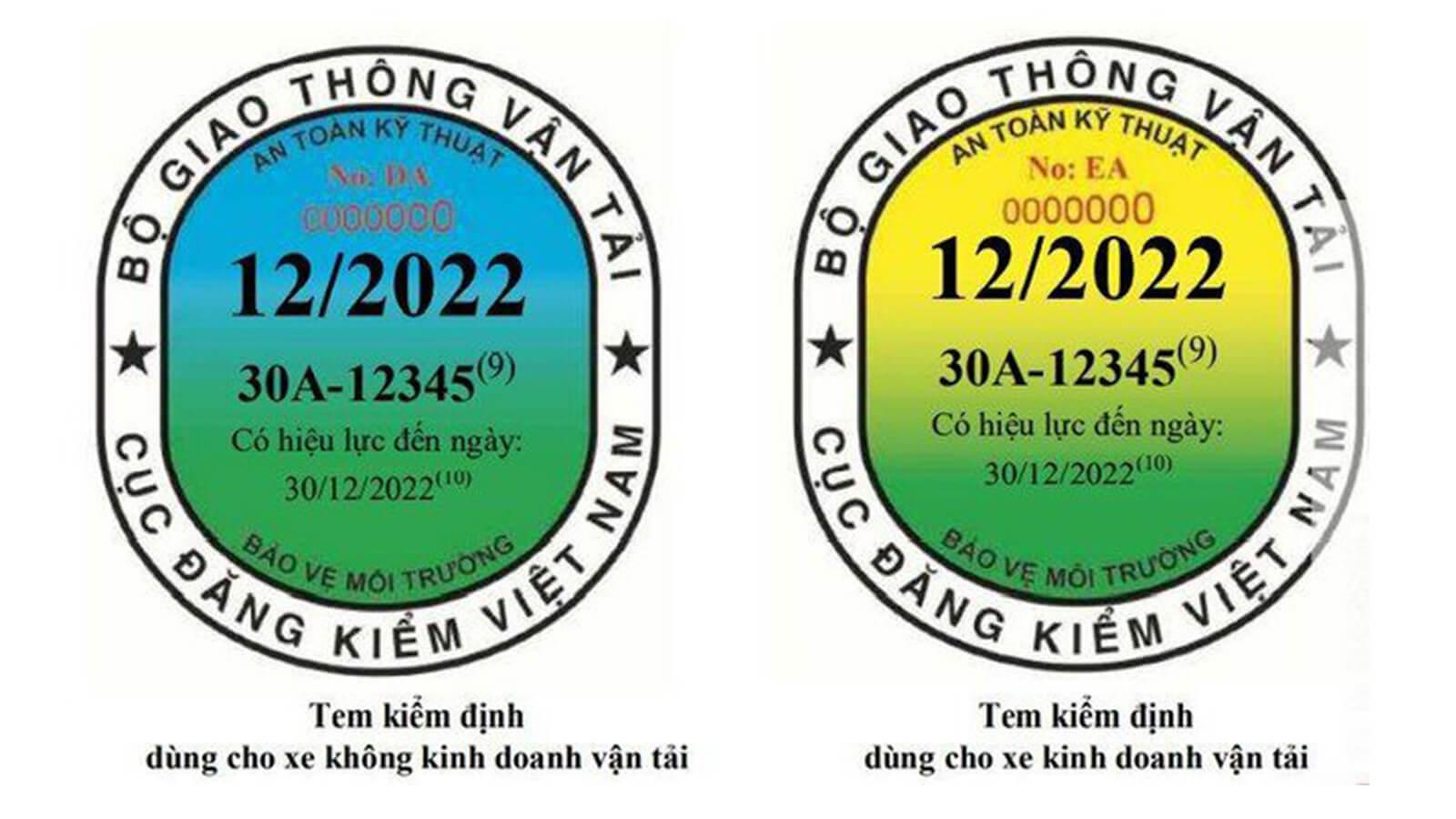 Xe kinh doanh vận tải được cấp mẫu tem mới