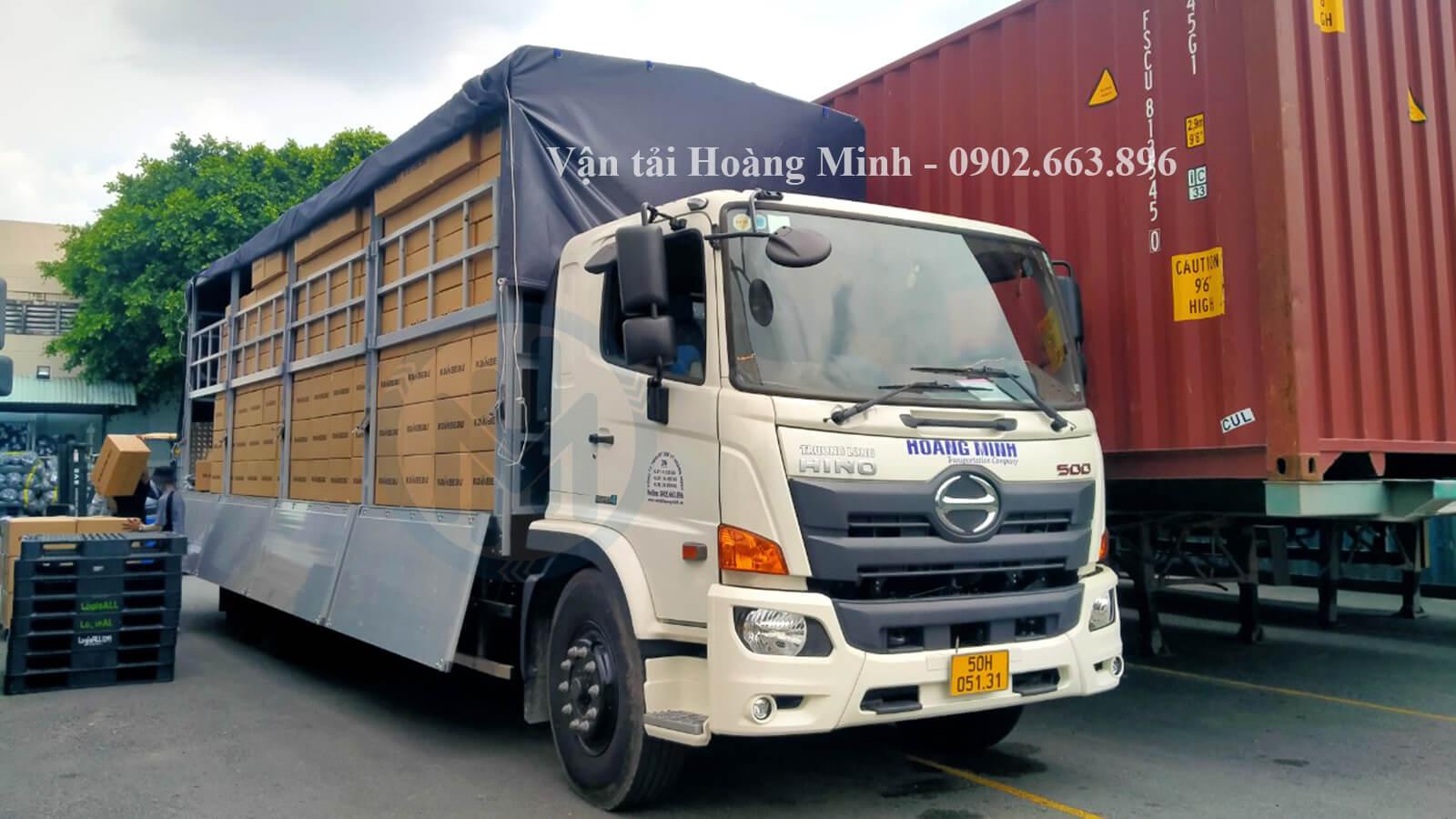 kích thước thùng xe tải chở thuê tại Quận Tân Bình